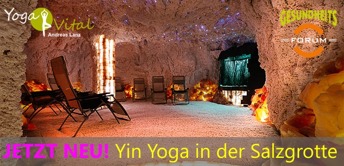 Yoga in der Salzgrotte